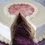 White Chocolate Cake with Raspberry Filling