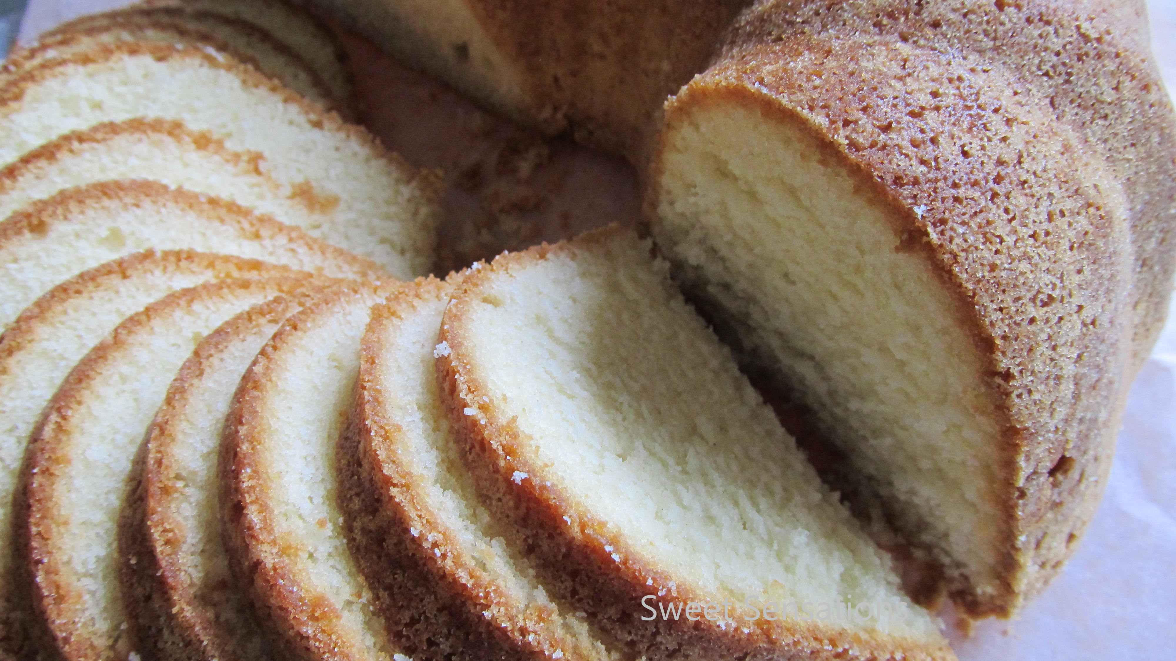 Buttermilk Pound Cake – adapted from all recipes.com