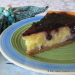 Blueberry White Chocolate Cheesecake