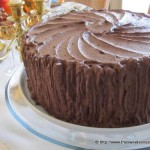 Frosted Tiered Chocolate Cake