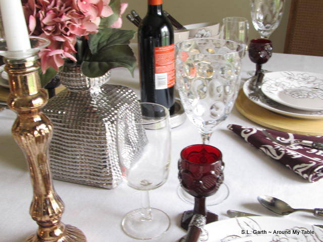 A fall tablescape with a neutral base that allows for various seasonal hues.