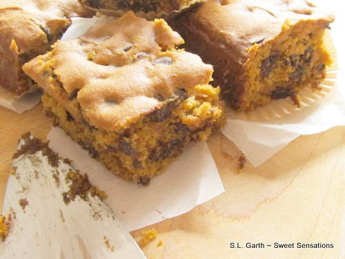 pumpkin blondies 7