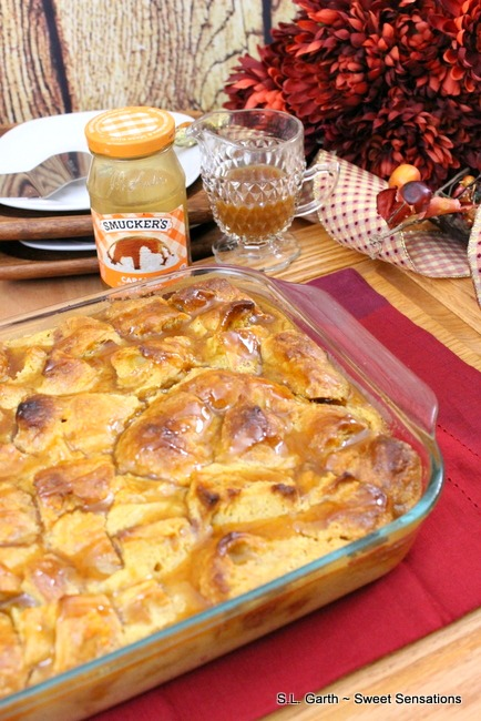 Sweet Potato Croissant Bread Pudding