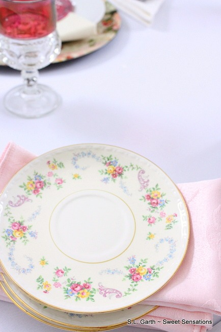This love is in the air romantic Tablescape could also be used for weddings and showers.