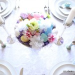 Crisp and Clean Easter Tablescape