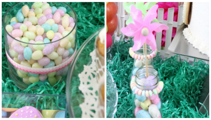 Easter Garden Candy Collage