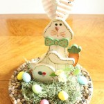 Easter Bunny Centerpiece with Pebble Charger