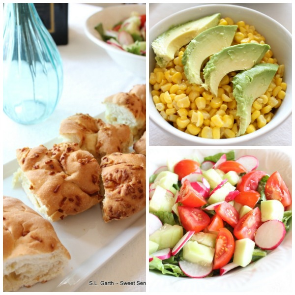 Corn w/Avocado Salad Foccacia