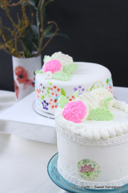 Spring Floral Painted Cakes 15