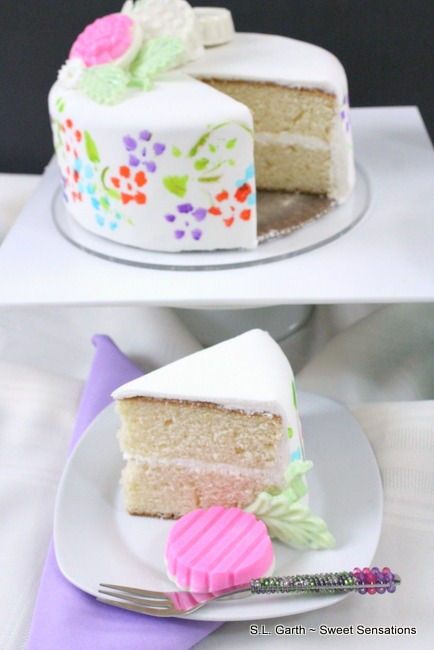 Spring Floral Painted Cakes 30