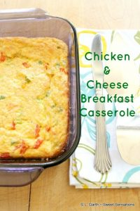 If you need a recipe to break free of your typical breakfast, this Chicken and Cheese Breakfast Casserole just might be the one.