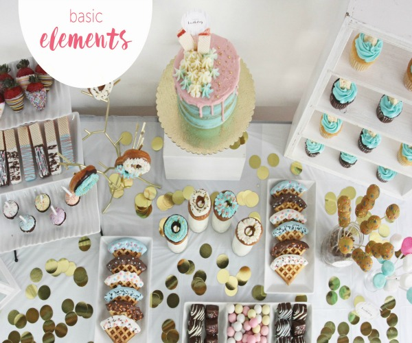 Shari's Berries dessert table guide has quick and easy tips on setting up your sweets table.