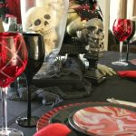 Sinister and Stylish Halloween Tablescape