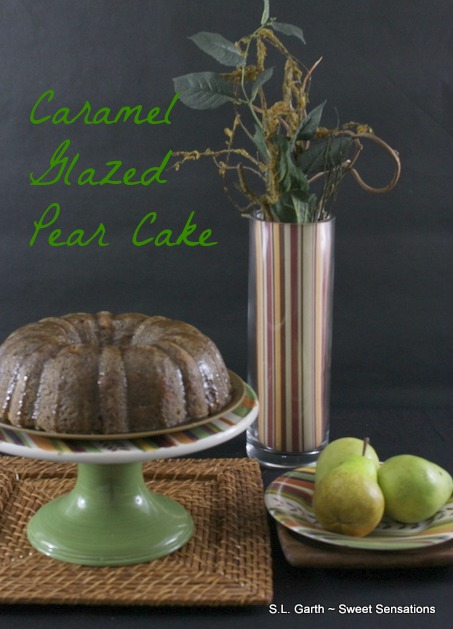 This Caramel Glazed Pear cake is made with oil rather than butter. It ...