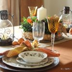 Foliage and Burlap Thanksgiving Tablescape