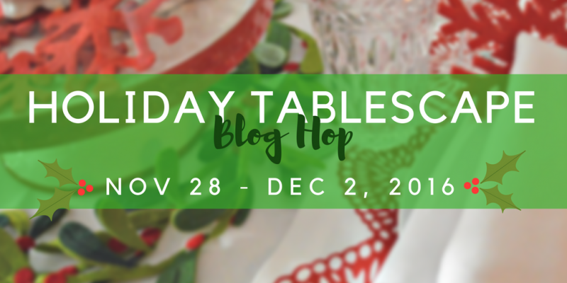 Information regarding your email updates and a holiday Tablescape blog hop.