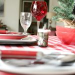 Simple Plaid Holiday Table Decor