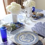 Blue and White Tablescape with an Asian Influence