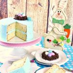Speckled Egg Cookies and Cream Cake