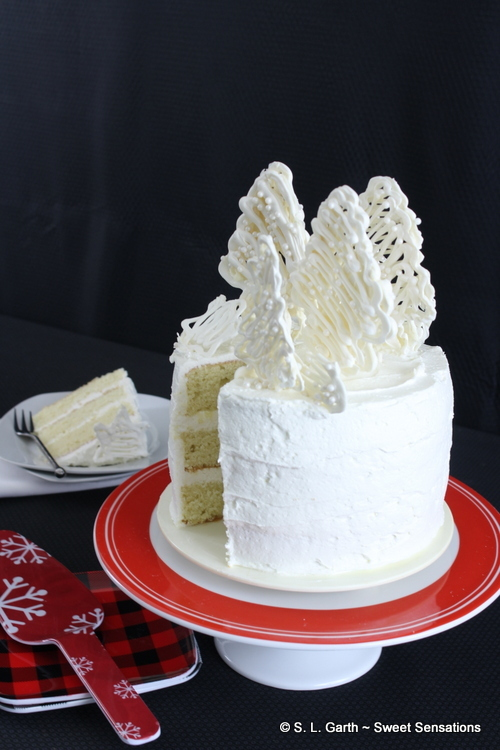 Lemon Cake With Citron Italian Meringue Buttercream
